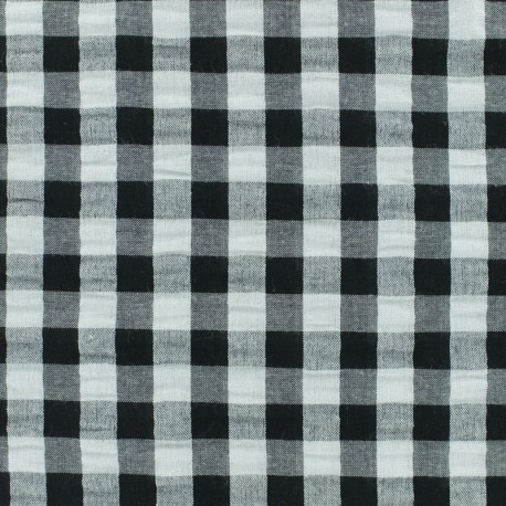 Seersucker Fabric Black Gingham Ma Petite Mercerie