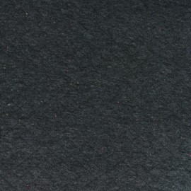 Tissu jersey chiné matelassé - gris anthracite /moucheté fluo x 10cm