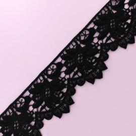 Lace Guipure - Black Eugénie x 1m
