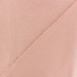 Tissu Coton uni - rose saumon x 10cm