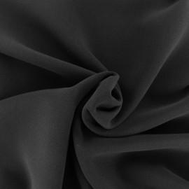 Tissu crêpe uni - noir x 10cm