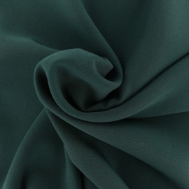 Tissu crêpe uni - marron x 10cm