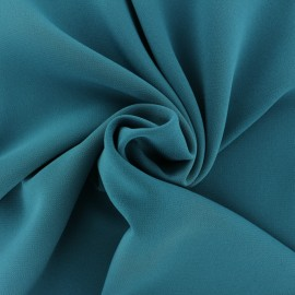 Tissu crêpe uni - vert sapin x 10cm