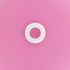 25 mm Plastic Eyelet to Clip - Matte White