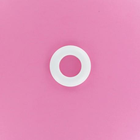 Oeillet à Clipper Plastique Rond 25 mm - Blanc Mat