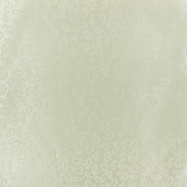 Tissu Doublure Jacquard mini cachemire  pourpre x 10cm