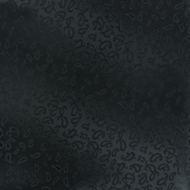 ♥ Coupon 130 cm X 150 cm ♥ Mini Cachemere Jacquard Lining Fabric - black