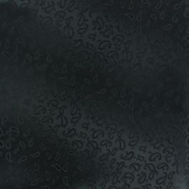 Tissu Doublure Jacquard mini cachemire - noir x 10cm