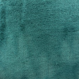 Fur fabric - peacock green Moresby x 10cm