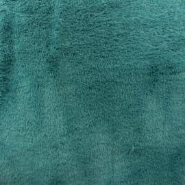 Tissu fourrure Moresby - vert paon x 10cm