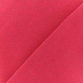 French terry fabric - Glittery Fuchsia Pink x 10cm