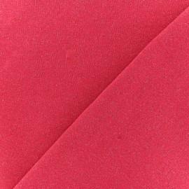 Tissu sweat léger Molletonné Pailleté - Fuchsia x 10cm
