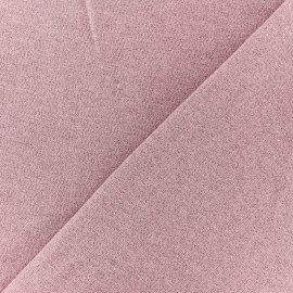 French terry fabric - Glittery lilac Pink x 10cm