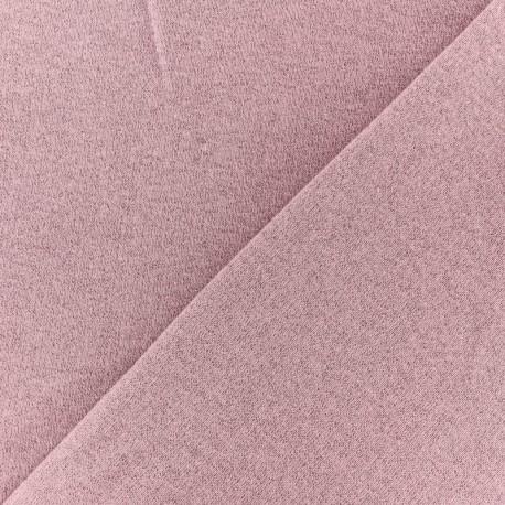 Tissu sweat léger Molletonné Pailleté - Lilas x 10cm
