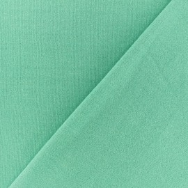 French terry fabric - Glittery turquoise blue x 10cm