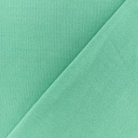 Tissu sweat léger Molletonné Pailleté - Turquoise x 10cm