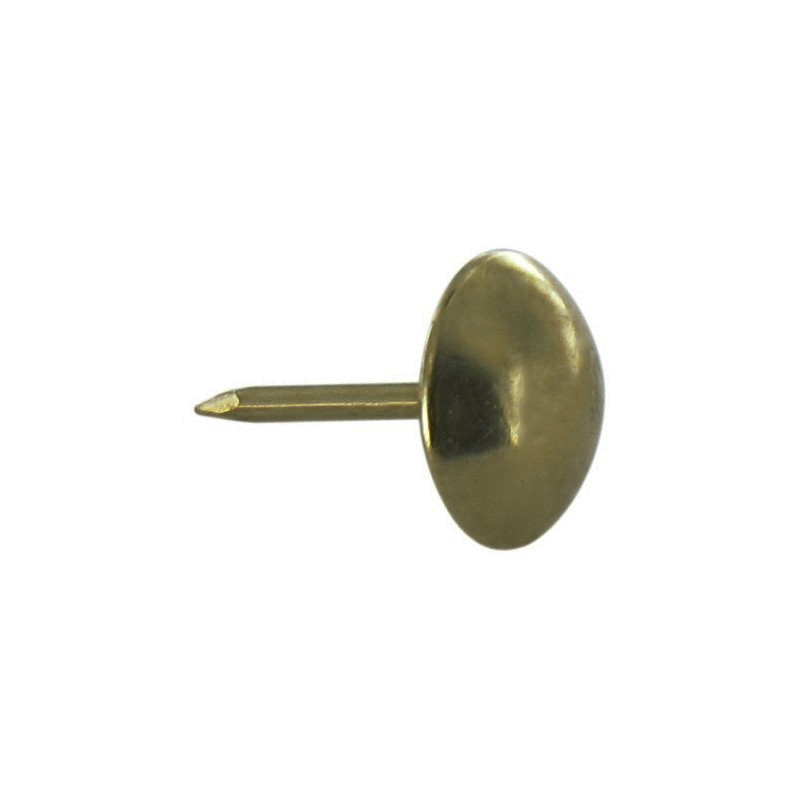 UPHOLSTERY NAILS TACKS CHOOSE QTY BRASS OR ANTIQUE 10MM HEAD FREE P/&P