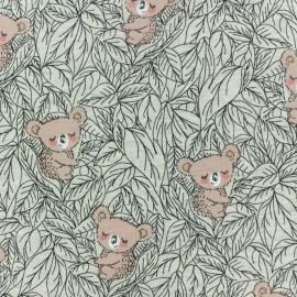 Tissu sweat léger molletonné Koala - gris chiné x 10cm
