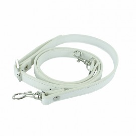 Adjustable Faux Leather Bag Handles - Off White