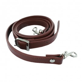 Adjustable Faux Leather Bag Handles - Brown