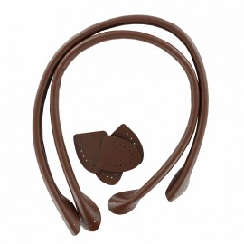 Bell Bottom Faux Leather Bag Handles - Brown