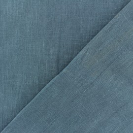 Washed Linen Fabric - Storm blue x 10cm