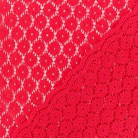 Tissu Dentelle festonné Mélanie - rouge x 10cm