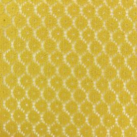 Tissu Dentelle Festonné Mélanie - jaune moutarde x 10cm