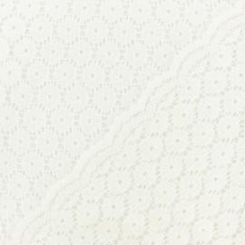 Tissu Dentelle Festonné Mélanie - écru x 10cm