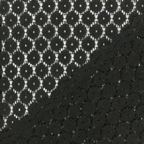 Tissu Dentelle Mélanie - bleu marine  x 10cm