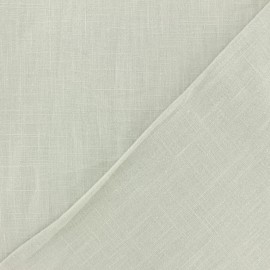 Washed Linen Fabric - Pebble grey x 10cm