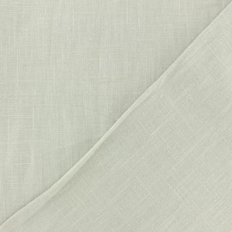 Tissu lin lavé (laize: 135cm) - gris galet x 10cm