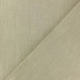 Washed Linen Fabric - Havane x 10cm