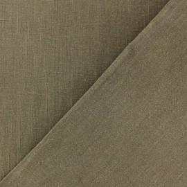 Tissu lin lavé (laize: 135cm) - Havane x 10cm