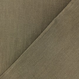 Tissu lin lavé (laize: 135cm) - Moka x 10cm