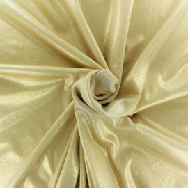 Lurex Swimsuit Lycra fabric - gold x 10cm