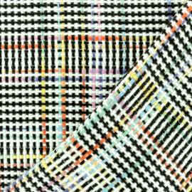 Lurex Tweed fabric - black Putney x 10cm