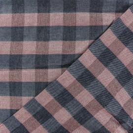 Tissu Viscose Lurex Suzanne - bleu x 10cm