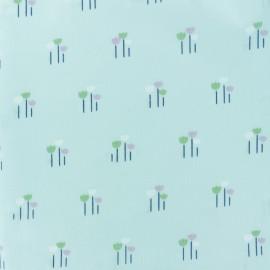 Tissu voile de coton Daisy - bleu x 10cm