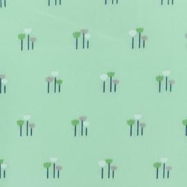 Tissu voile de coton Daisy - vert x 10cm