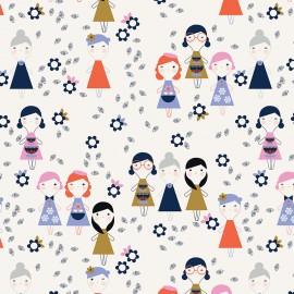Tissu coton Dashwood Amélie Poupée - écru x 10cm