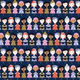 Cotton Dashwood fabric - raw doll Amélie x 10cm