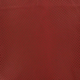 Perforated Lambskin Genuine Leather - Carmine Red