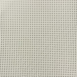 Perforated Lambskin Genuine Leather - Pearl Grey