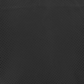 Perforated Lambskin Genuine Leather - Black