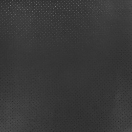Perforated Lambskin Genuine Leather - Black Avira