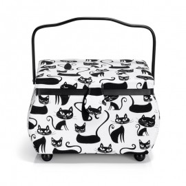 Medium Size Prym Sewing Box - Cats