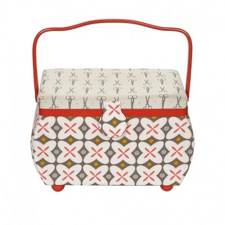 Medium Size Prym Sewing Box - Red Retro