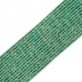 35 mm Elsa Lurex Elastic Ribbon - Green x 50cm
