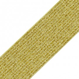 35 mm Elsa Lurex Elastic Ribbon - Yellow x 50cm
